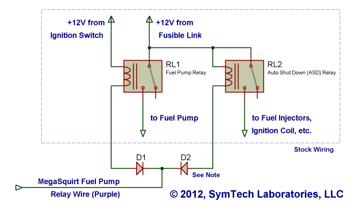 megasquirt relays symtech laboratories rh kb symtechlabs com Series Parallel Battery Wiring Diagram wiring two relays in parallel